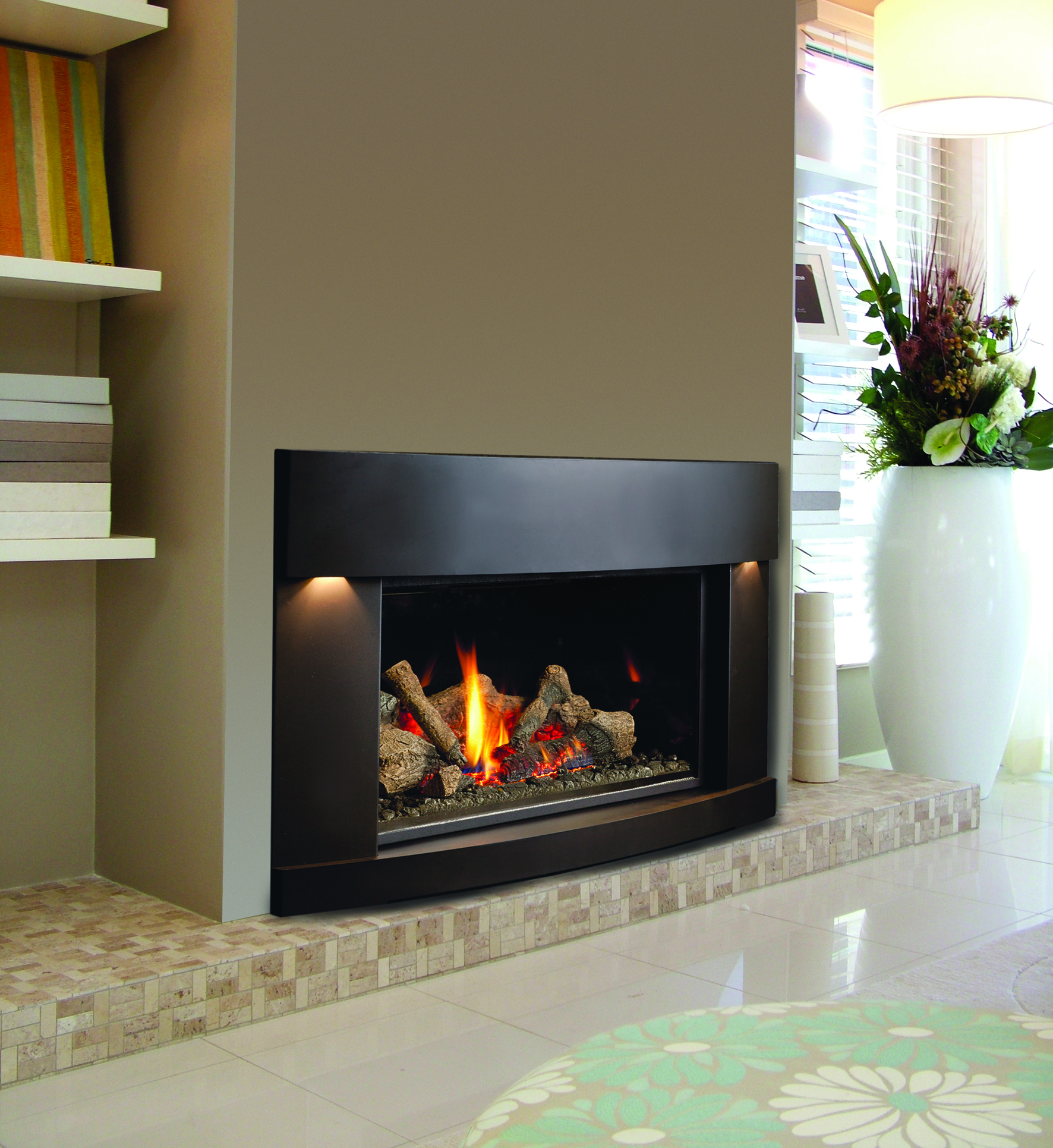 Inbuilt Gas Log Fire